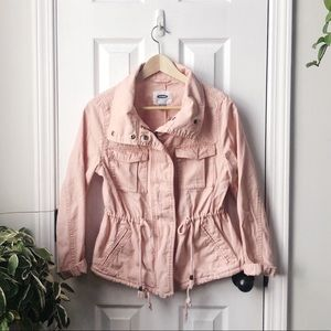 Blush Pink Old Navy Jacket, Canvas Utility Jacket